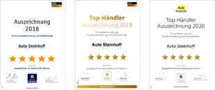 Auszeichnungen Auto Steinhoff - behindertengerechte Fahrzeuge Südkirchen